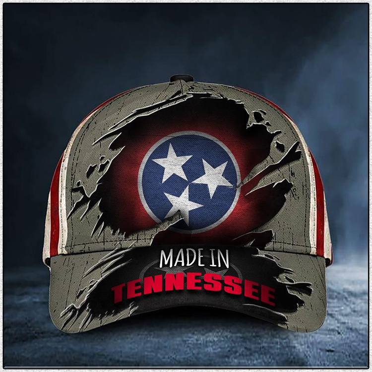 Tennessee Flag Made in Tennessee Cap Hat 2